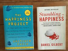 2 Book Lot The Happiness Project Rubin Stumbling On Happiness Daniel Gilbert
