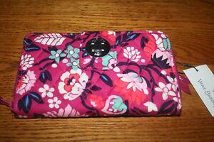 Vera Bradley RFID Turnlock Wallet Bloom Berry turn lock clutch pink New