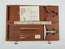 Brown Amp Sharpe 599 604 Micrometer Depth Gauge Flat Blade Measuring Rods Case