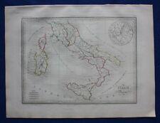 Original antique map, ANCIENT ITALY, ROME, 'Italie Ancienne', Malte-Brun, 1846