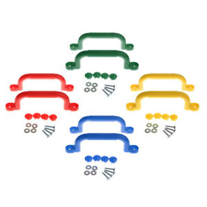 4 pair Safety Nonslip Handle Mounting Screws Garden Swing Accessory Colorful