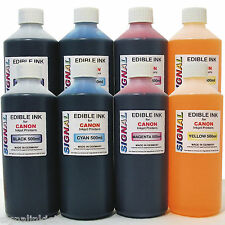 4 LTRS EDIBLE REFILL INK FOR CANON PRINTERS - 8 x 500ml