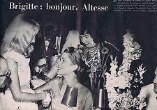 Coupure de presse Clipping 1958 Brigitte Fossey & La Princesse Grace  (2 pages)