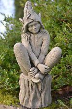 Fairy Stone Garden Ornament Elf (Foxglove)