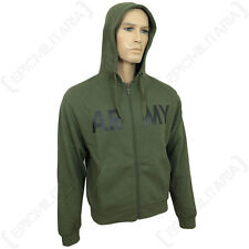 Olive Green US Army Gym Hoodie - American Jumper Top Sweater Military Soldier