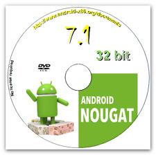 Android 7.1 Nougat Live CD 32 bits complet de systèmes d'exploitation