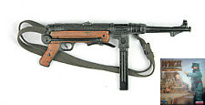 1/6 SCALE DID GERMAN WWII - REAL METAL MP40 W/ LEATHER STRAP - TIM BECKER PANZER