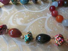 multicolored /freesize/nuggetMILLEFLIORI NECKLACE/90 CM long/lucite/multicolored