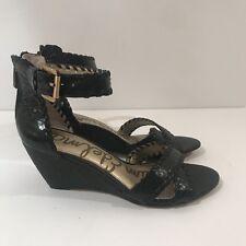 a1d099c0d Sam Edelman Women s Shoes Silvia Wedge Sandal Marble Snake Black Sz 7.5