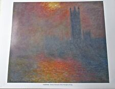 Claude Monet Houses of Parliament Poster Offset Lithograph 14x11