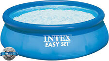 Intex 28110NP - Piscina hinchable 244 x 76 cm, 2.419 litros Azul Mediana