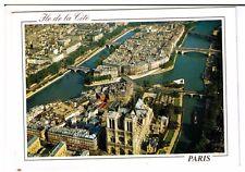Postcard: Aerial view -  Ile de la Cite, Paris, France
