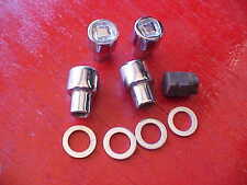 set of 4,7/16 locking mag wheel chrome lug nuts,with key,rat rod 3/4 shank