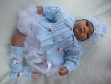 KNITTING PATTERN TO MAKE ROBINIA BABY/DOLL MATINEE SET TO FIT NEBORN
