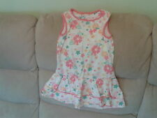 Girls 5-6 Years - Pink & White Floral Summer Dress with Frill - Mothercare