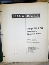 Cine film projector 16mm BELL & HOWELL 641 & 642 service spare parts book CDEmai