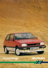 Suzuki 1986 UK Market Foldout Sales Brochure Alto Swift SJ410 ST90