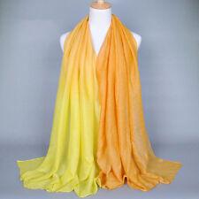 Women Soft Chiffon Voile Printed Long Scarf Wrap Shawl Ladies Stole Silk Scarves