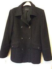 Alex & Co. Size 14 Pea Coat Grey Wool Cashmere Warm Winter VGC