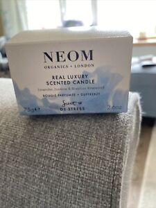 Neom London De-stress  75g Candle Brand New In Box.