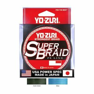 Yo Zuri Super Braid 300 yd Braided Line (Blue/Green, 10, 15, 20, 30, 40, 50lb)