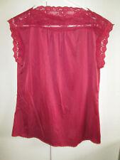 Vintage Target Size 16 Maroon Cami Lace Edges Lingerie