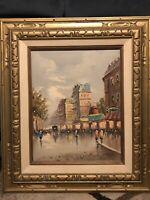 Anthony D'evity Studio D'arte Italia Oil Painting Paris Street Scene Signed