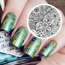 Nagel Schablone BORN PRETTY 53 Nail Art Stamp Stamping Template Plates
