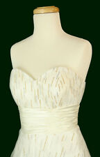 NWT Jovani Size 8 Prom Formal Evening Long $400 Ball Gown Dress White Strapless
