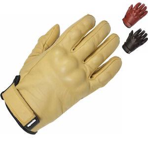 Spada Wyatt CE Leather Motorcycle Gloves Goat Hide Armoured Cruiser Motorbike