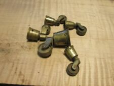 Polished Cast Brass CUP CASTERS  furniture parts restore antique chair table