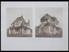 VIEUX-MOULIN, VILLA ROGER MICLOS - 1906 -PLANCHE ARCHITECTURE- BREFFENDILLE