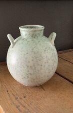 Vintage Globe Shaped Pottery Urn Vase Lovely Robins Egg Finish JAPAN