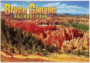 Bryce National Park Utah Postcard Mountain Tree Rock Unposted