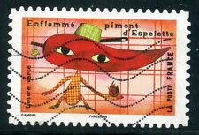 France autoadhesif cancelled no. 1454 the taste of espelette pepper //