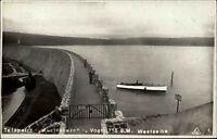 Muldenberg Sachsen Vogtland alte AK 1926 Talsperre Stausee Staumauer Ruderboot