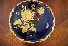 Wonderful Lindner Echt Cobalt Chrysanthemum Large Blue & Gold Wall Cabinet Plate