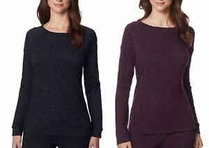 32 Degrees Heat Womens Crew Neck Soft Fleece Pull On Active Shirt To