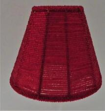 """Clip-On Lamp Shade, Red Bell Beaded Glass, 2 5/8"""" x 5 1/4"""" x 4 3/8"""" H"""