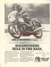 Avon Roadrunners Tyres Motorcycle 1976 Magazine Advert #244