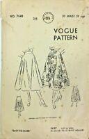 c1950's Vintage Sewing Pattern Vogue 7048 Ladies Skirt
