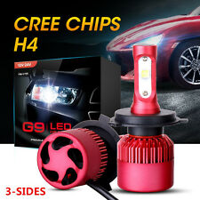 H4/9003/HB2 252W 25200LM CREE LED Headlight Kit Hi-Low Beam Bulbs 6000K vs HID