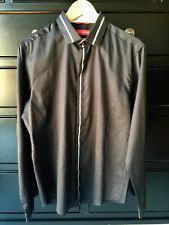 EUC WILLS LIFESTYLE Mens Long Sleeve Black Shirt Premium Egyptian Cotton Size M