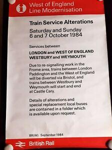 BR ORIGINAL RAILWAY POSTER, West of England Line Modernization 1984 101 x 63cm
