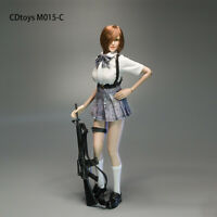 cdtoys 1/6 Female Shirt&Pleated Skirt Clothes Set M015C fit 12'' Phicen Doll