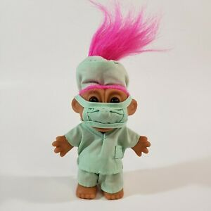 Troll Doll Surgeon Doctor with Pink Hair by Russ - New!
