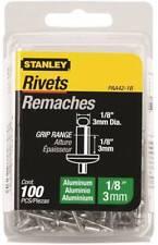 "Stanley 100pc 1/8"" x 1/8"" Aluminum Rivets, PAA42-1B"