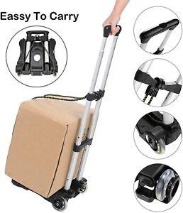 Foldable Hand Truck Dolly Luggage Cart Portable Aluminum Utility Cart w/ 2Wheels
