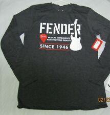 fender logo long sleeve shirt medium mens tee  med size fender shirt