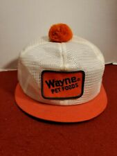 trucker hat baseball cap Vintage Snapback Pom All Mesh Patch Wayne Pet Foods